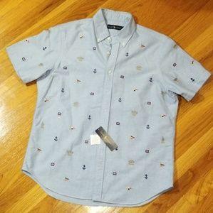 Ralph Lauren Sailing Style Button Up Short Sleeve